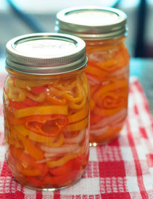 Peppers pickled