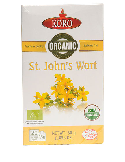 ORGANIC ST JOHNS WORTH TEA 30g x 12 | Marco Polo Foods